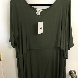 Army green two tier top